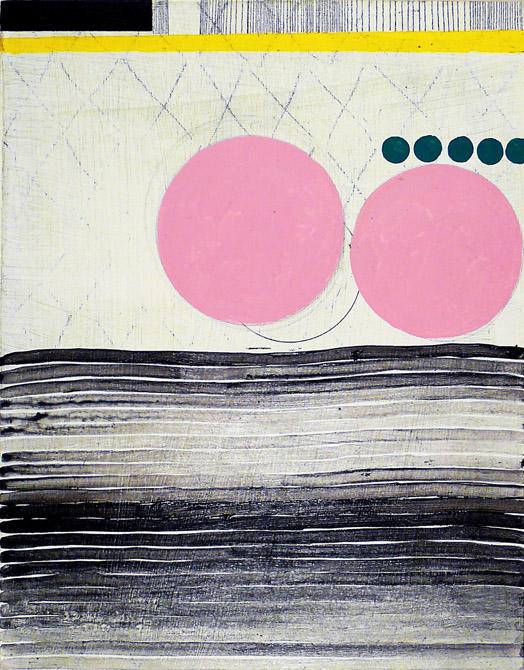 "NY10.#28,14""x11"",mixed media on panel,2010  available at Jen Bekman Gallery"