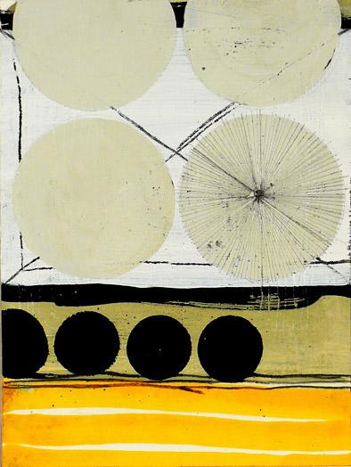"""NY10#31, 8""""x6"""",mixed media on paper,2010, SOLD"""