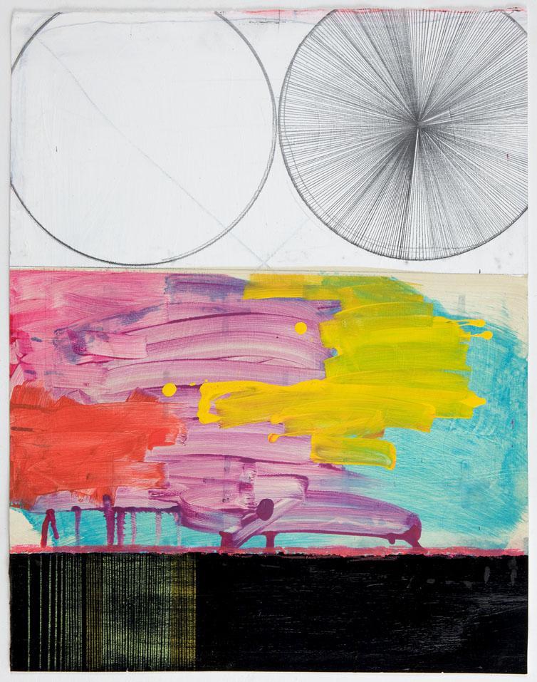 """NY1038, 28"""" x 22"""", mixed media on paper, 2010"""