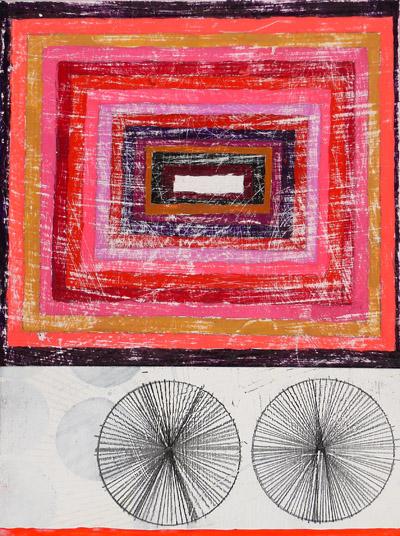 """NY10#44,9"""" x 7"""",mixed media on paper, 2010, SOLD"""
