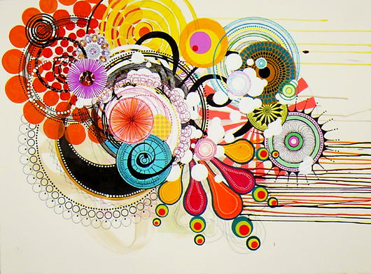 "ny.09.#05, 	 22"" x 30"", 	 mixed mediums on paper,  	 2009 	  SOLD"
