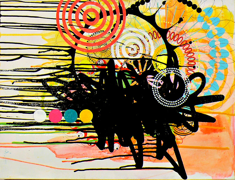 "ny.09.#20,   18"" x 24"",    mixed mediums on canvas,   2009  Limited Editions at 20x200"