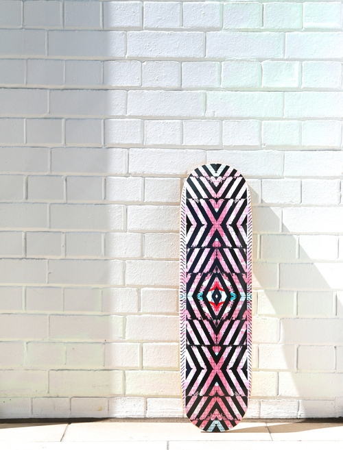 This skateboard deck is part of my collab with  Neon Vintage  . These are based on my painting  NY13#  1  0