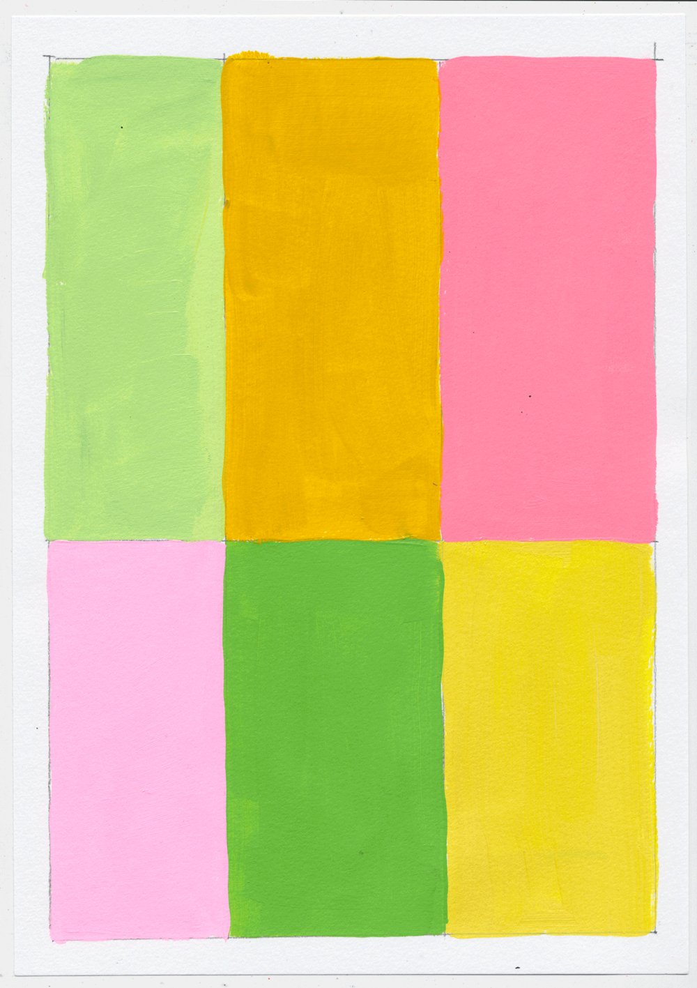 "NY1750 10"" X 7"", acrylic on paper, 2017  available at Etsy   more color palettes. it's like i'm in some designer's head. i don't know what she wants to make, but these are the colors she should use."