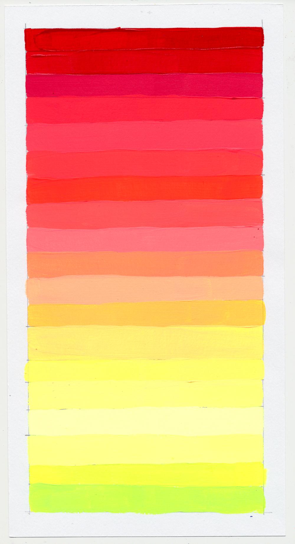 """NY1860 11"""" X 6"""", acrylic on paper, 2018"""