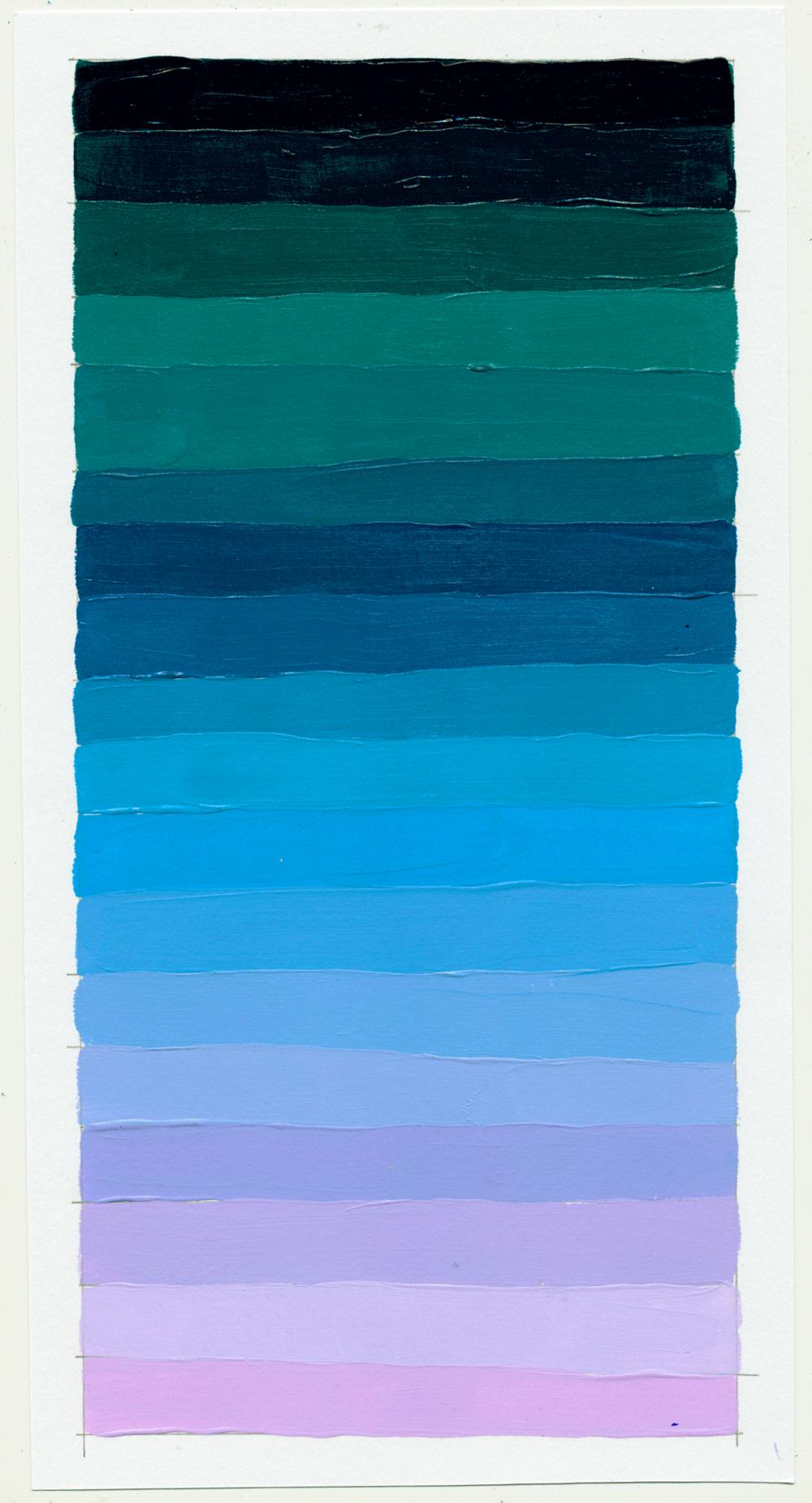 """NY1859 11"""" X 6"""", acrylic on paper, 2018"""