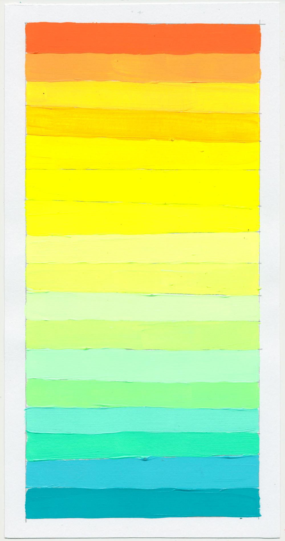 """NY1857 11"""" X 6"""", acrylic on paper, 2018"""