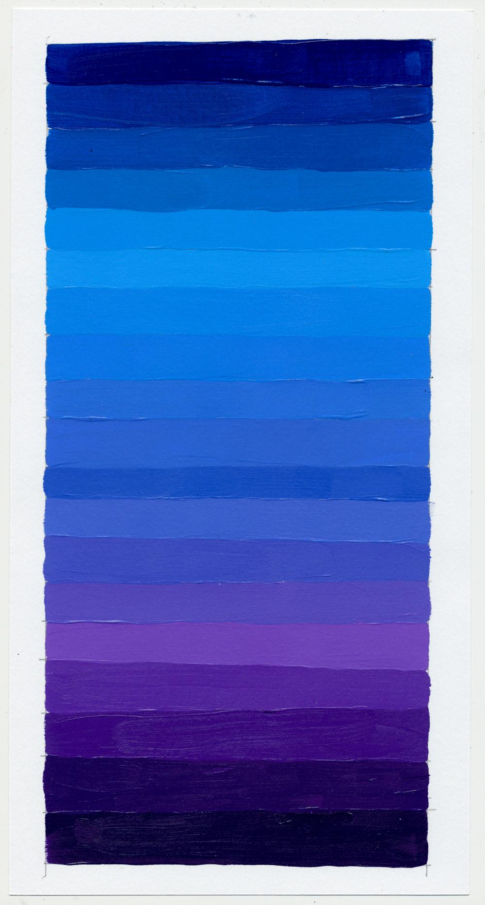 """NY1858 11"""" X 6"""", acrylic on paper, 2018"""