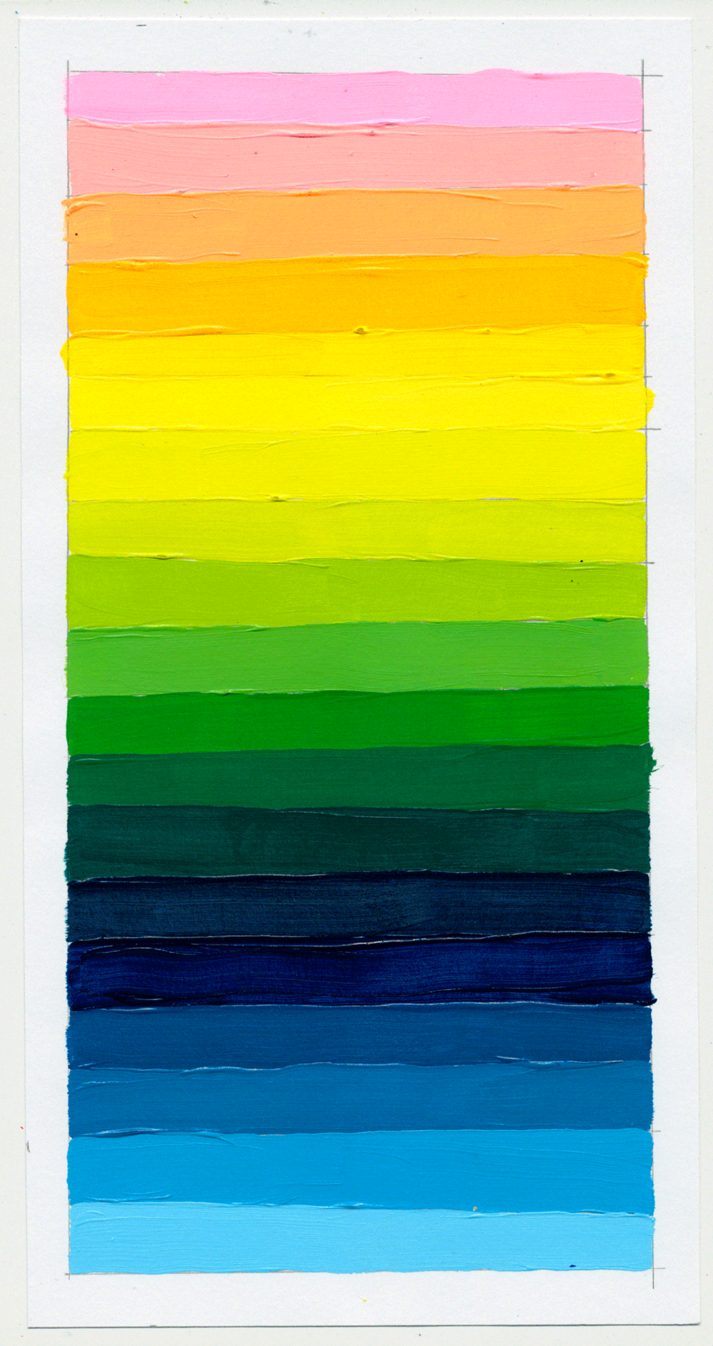 """NY1855 11"""" X 6"""", acrylic on paper, 2018"""