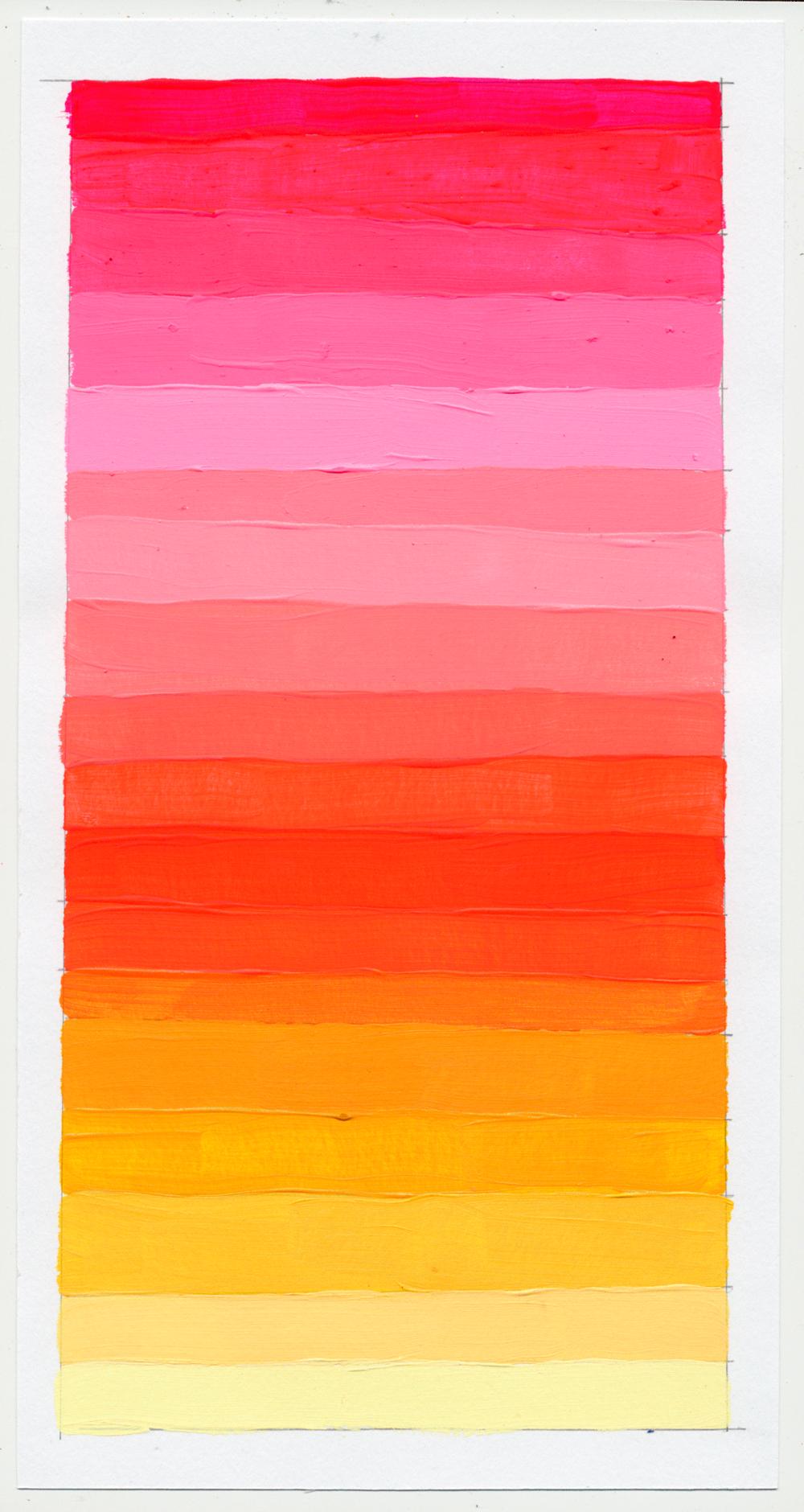 """NY1856 11"""" X 6"""", acrylic on paper, 2018"""