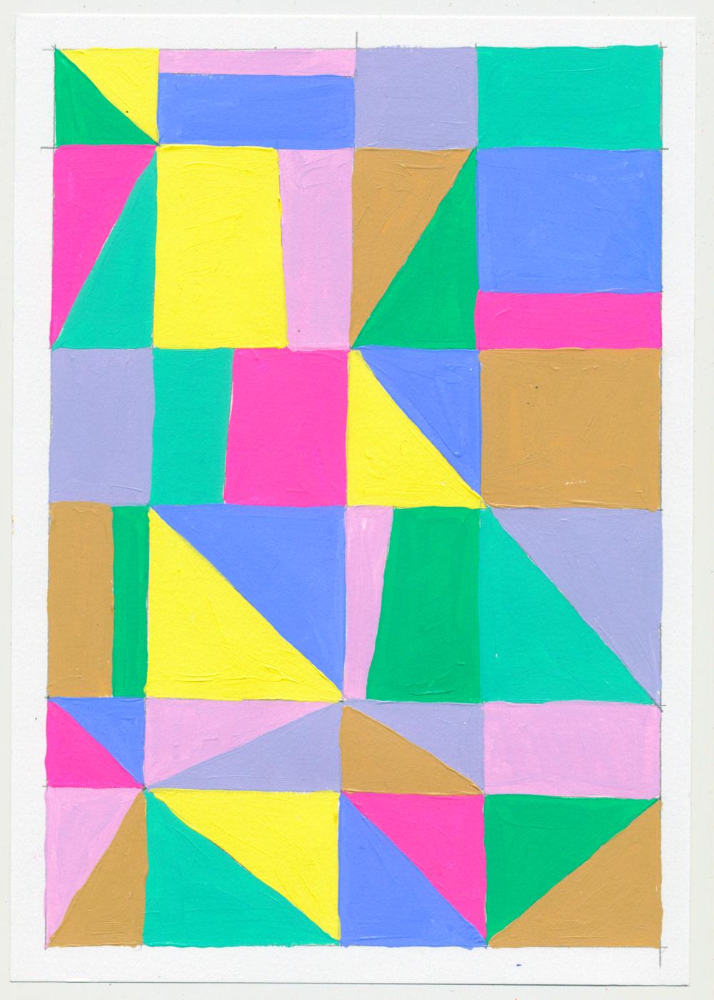 """NY1854 10"""" X 7"""", acrylic on paper, 2018"""