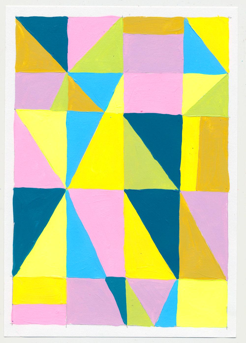 """NY1853 10"""" X 7"""", acrylic on paper, 2018"""