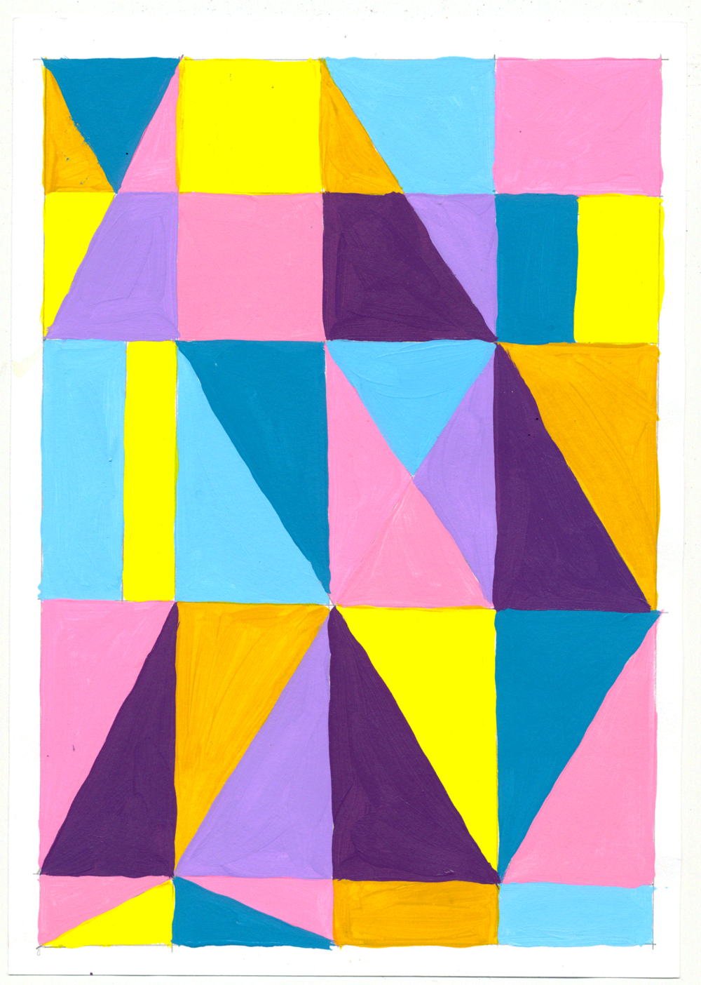 """NY1852 10"""" X 7"""", acrylic on paper, 2018"""