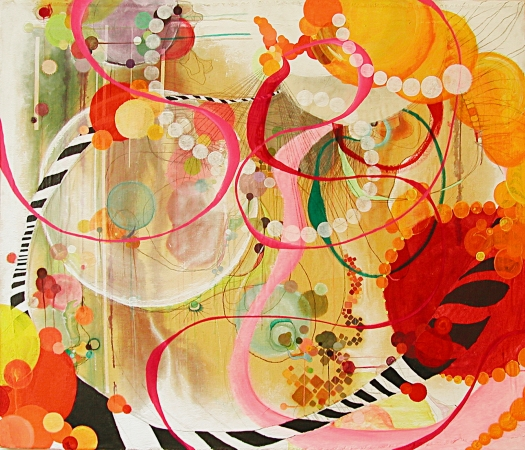 """NY0707, 46"""" X 39"""", mixed media on canvas, , 2007"""