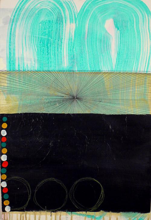 """NY1020, 22"""" X 15"""", mixed media on paper, 2010"""