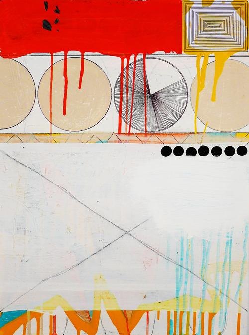 """NY1104, 23"""" X 17"""", mixed media on paper, 2011"""