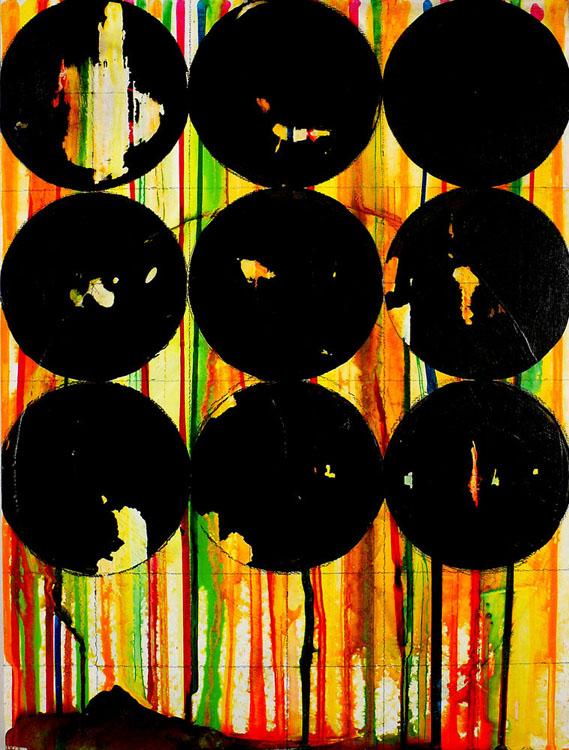 """NY1109, 16"""" X 12"""", mixed media on panel, 2011"""