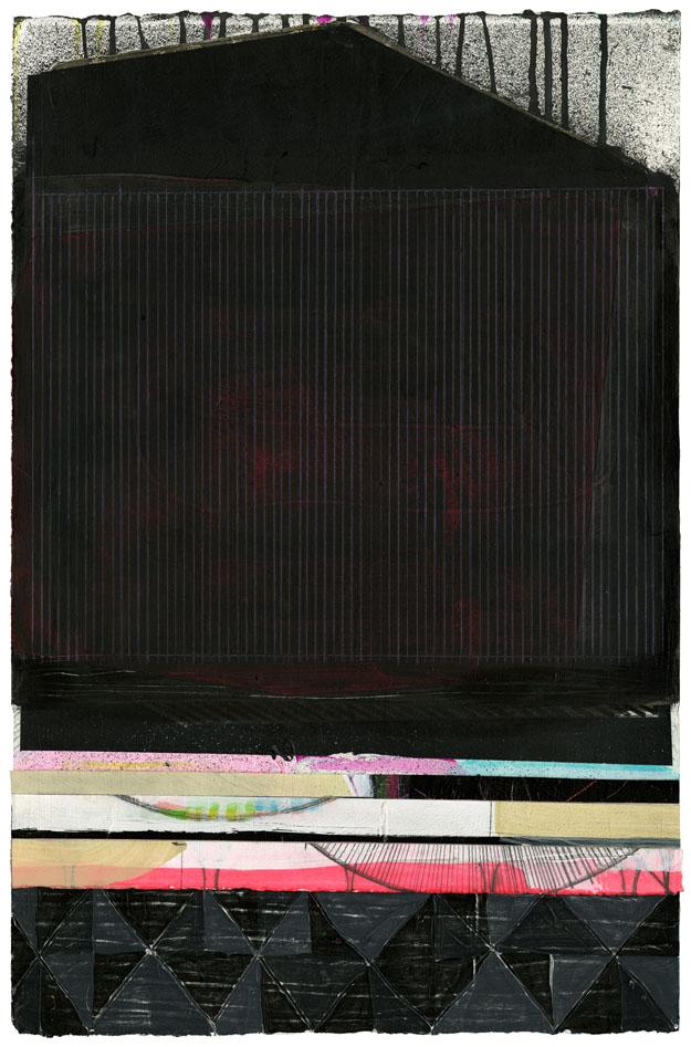 """NY1112, 22"""" X 15"""", mixed media on paper, 2011"""