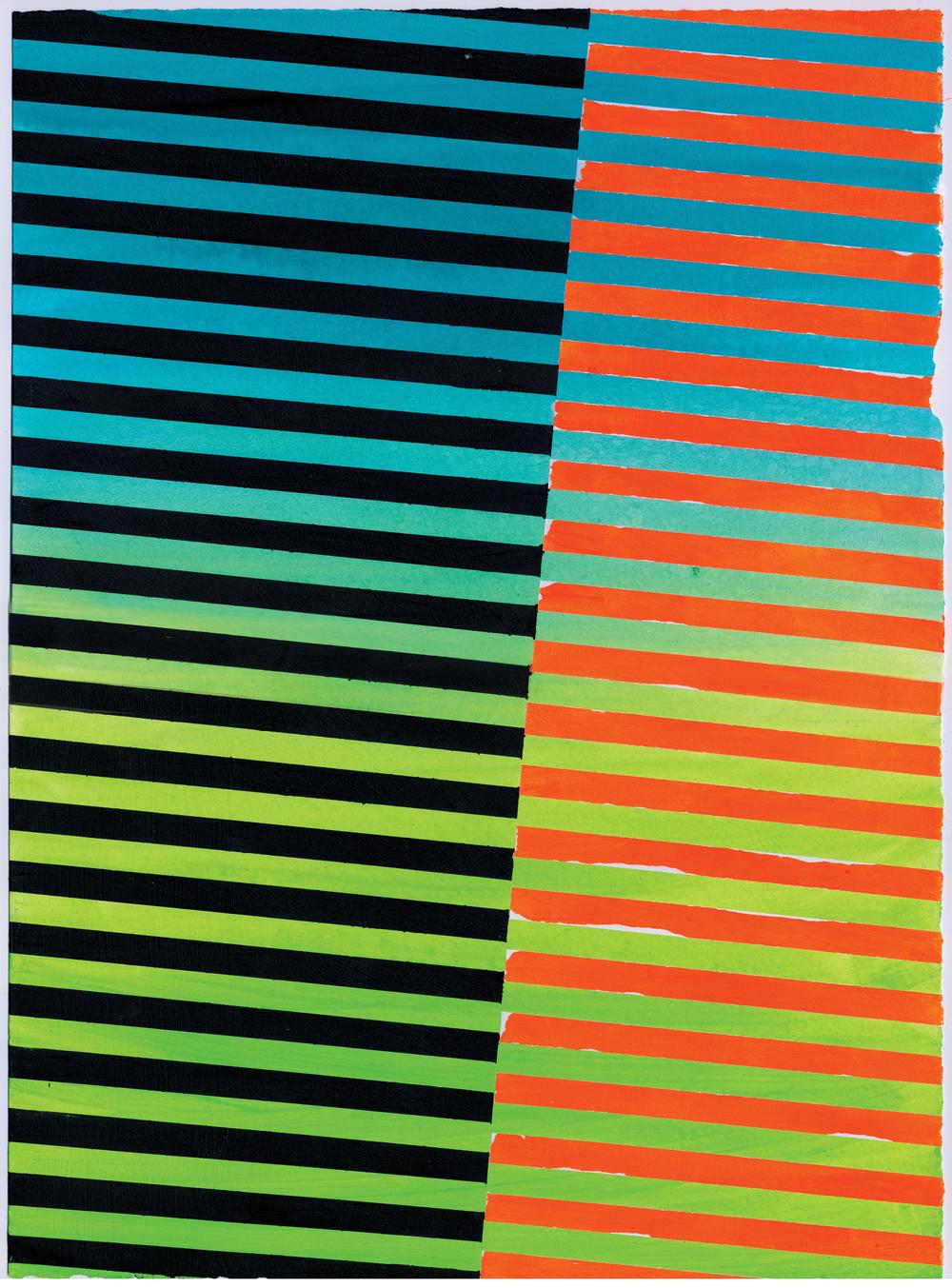 """NY1504, 11"""" X 15"""", acrylic on paper, 2015"""
