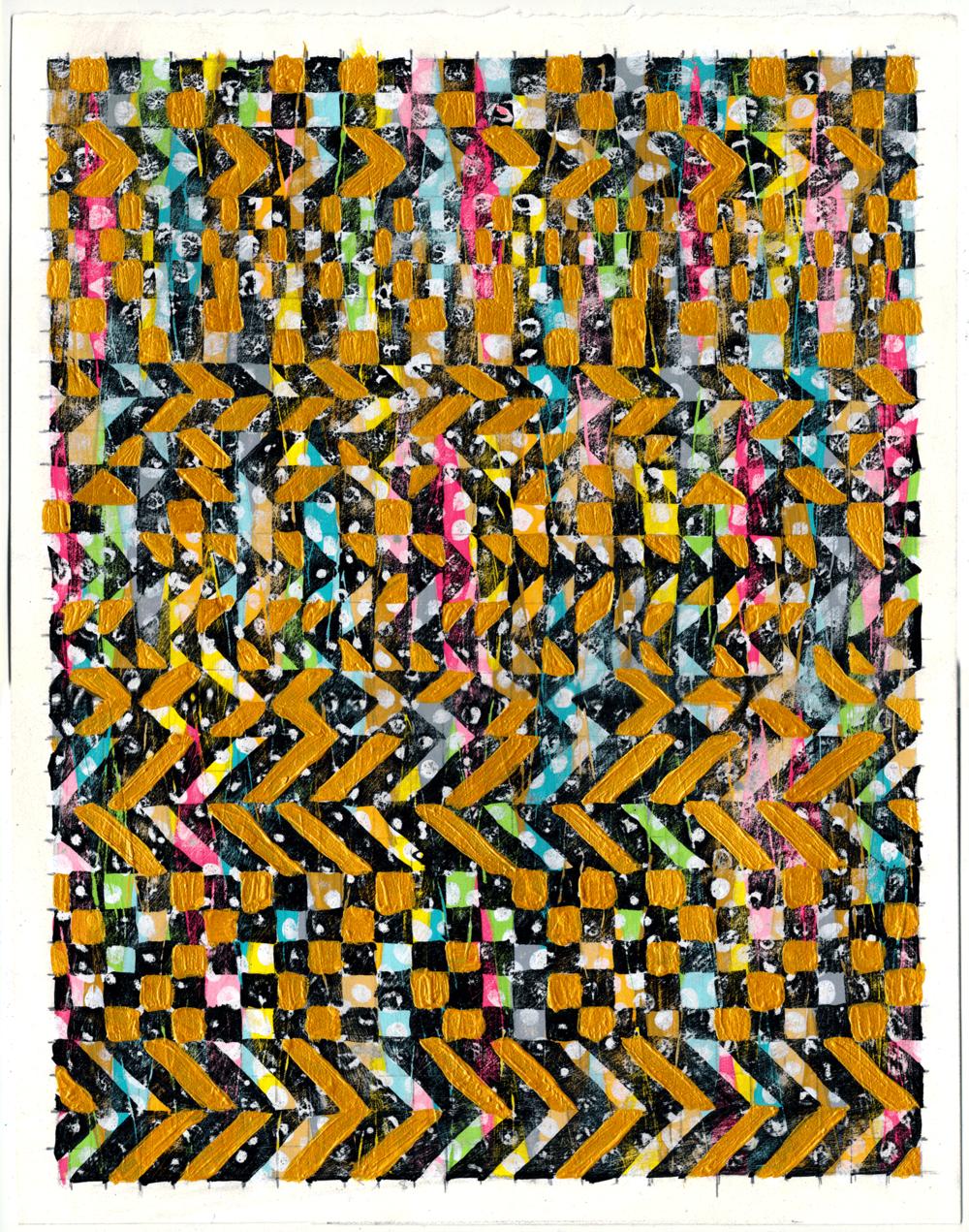 """NY1741, 15"""" X 11"""", acrylic on paper, 2017"""