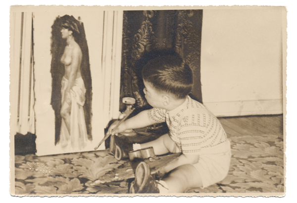 Very early start as an artist! (circa 1950)