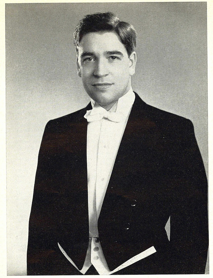 Werner Andreas Albert before his first concert with the hr Symphony Orchestra (Frankfurt, Germany 1961).