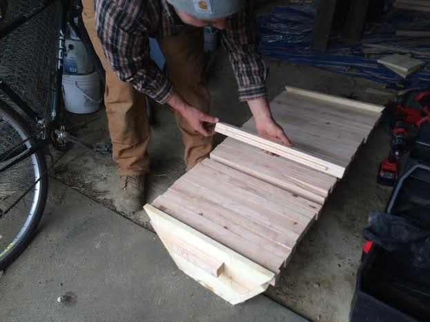 Building the Top-Bar Beehives.