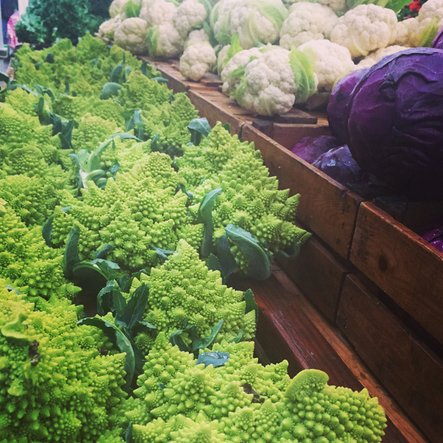 Romanesco at market.