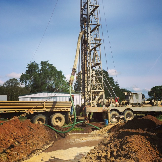 The reverse rotary drill rig.