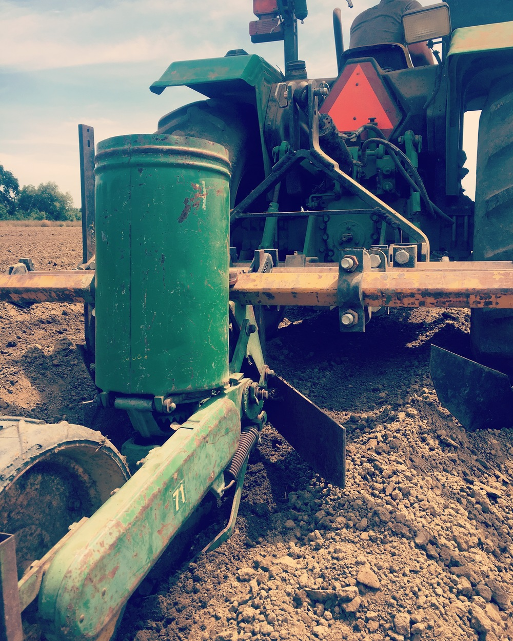 Old school technology still relevant! Using a John Deere 71 planter to sow winter squash.