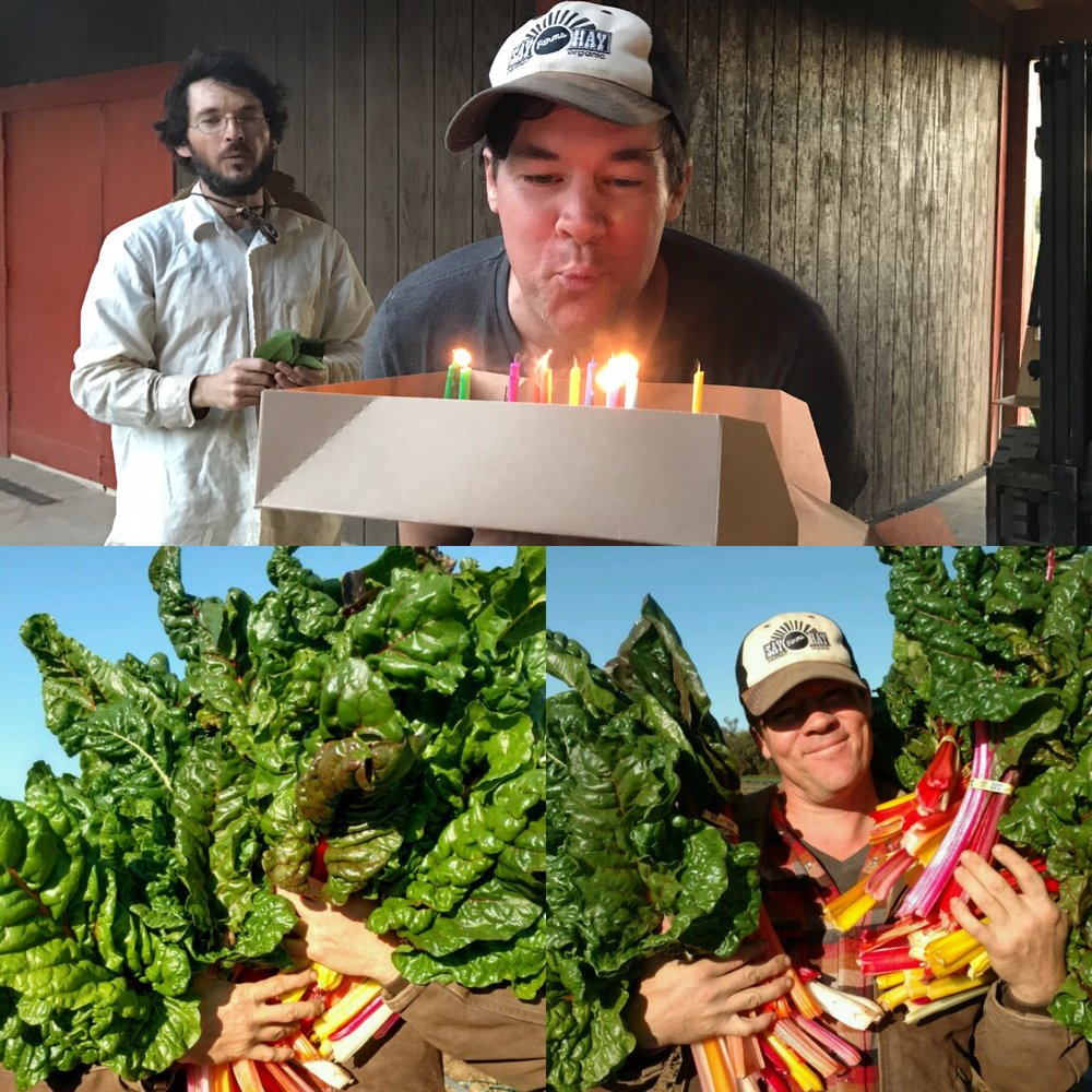Our fearless Harvest Manager Dusty celebrated a big birthday this past Friday.  Happy Birthday Dusty!