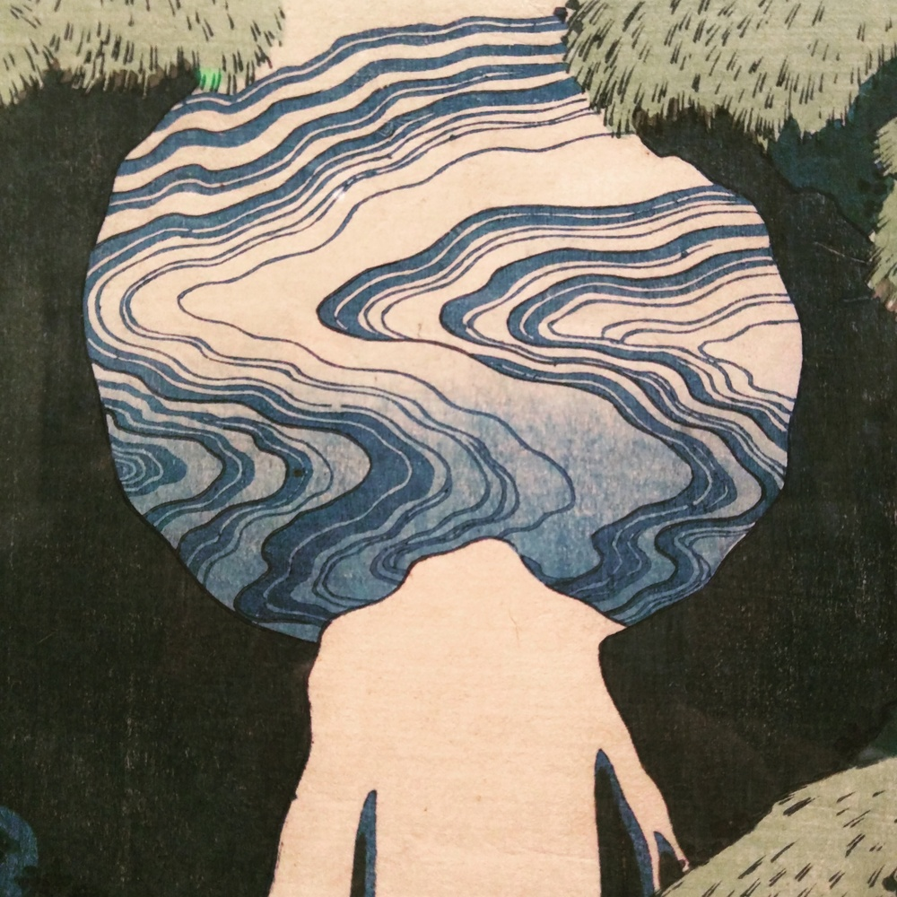 Detail of a Hokusai print