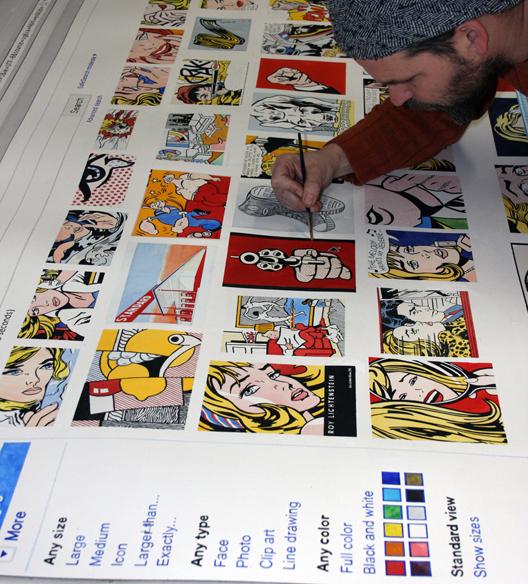Google Portrait - Lichtenstein - Page 1 , in progress. 2011