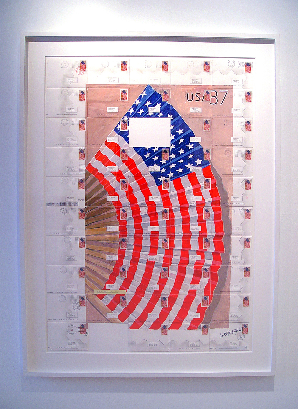 "Dependence Day  Gouache, Pencil, Ink, Mixed Media  40"" x 30""  2004"