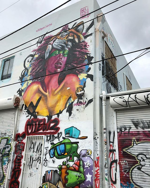 Playing tourist around Wynwood today. #wynwoodwalls #graffiti #murals