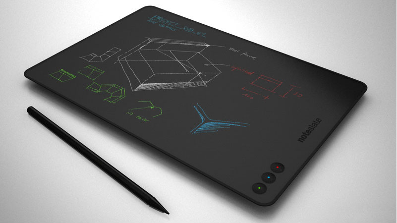 Would love to have this gadget if ever it takes life. At $99, touch-screen, anti-aliasing, 180 hrs battery it is looking little unreal though so far.      NoteSlate       NoteSlate    is low cost tablet device with true one colour display, real paper look design, long life battery (180h !), together with very handy usage and very simple and helpful interface for pen and paper. This easy, compact and portable gadget is used anywhere you want to make any notes, drafts, sketches, any ideas for future reference. Paper for everyone! Write a note and check it later, save it, or delete it. Maybe send it after. Just one colour is enough to express the basics. Keep your life simple. You will love it. For $99.