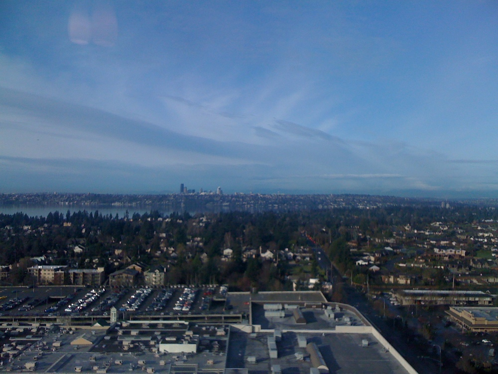 View of Seattle from Bellevue Downtown
