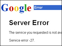 The day google went down Never thought, I had to break my blog hiatus with this news, GOOGLE IS DOWN ! That's crazy, Right ? In my last 5 years of using Google, this is happening for the first time. Has the day of reckoning arrived? More stories signaling the apocalypse here: Search Engine News :: Search Engine Lowdown: Google Under DNS Attack Outages hit Google search CNET News.com Google, other engines hit by worm variant CNET News.com Internet News Article Reuters.com
