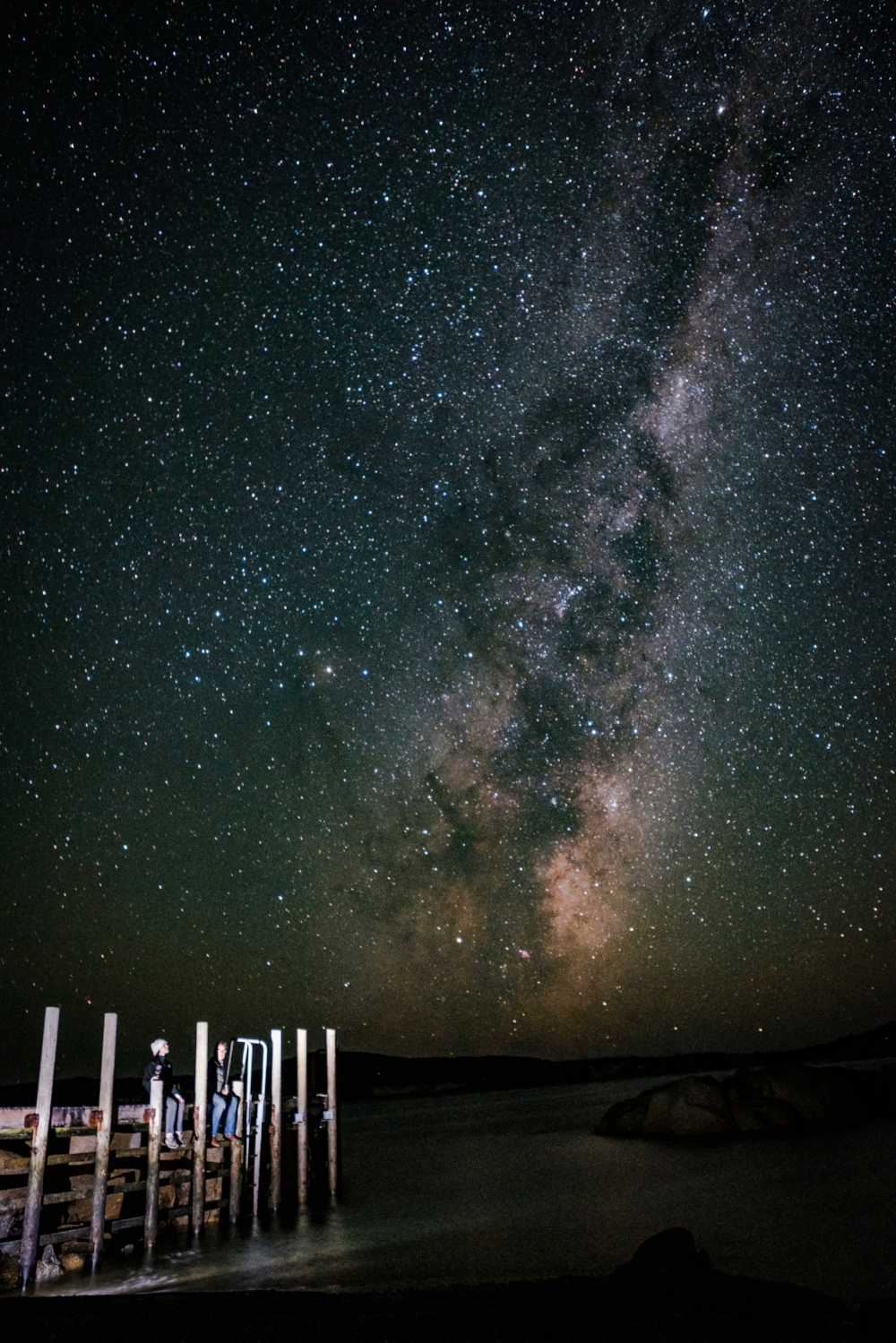 The Milky Way seen from the Palana Boat Ramp - (and another great place to swim from in the day)