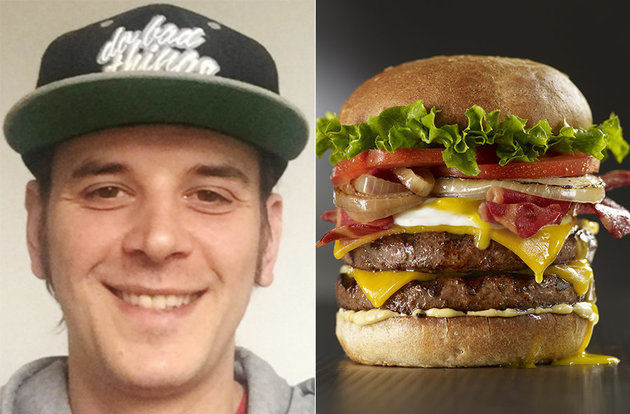 That's Mr. Cheeseburger on the left, and just a cheeseburger on the right. So confusing...