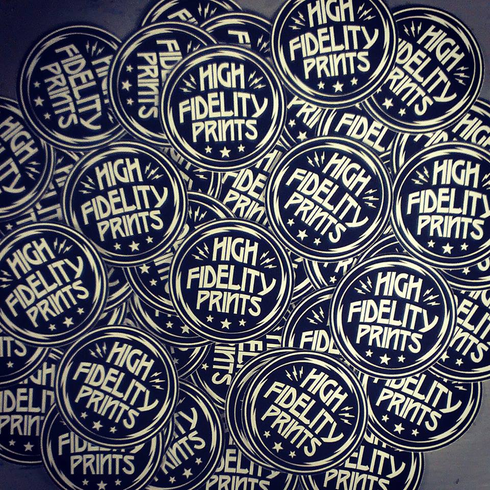 High Fidelity Prints Stickers- FREE with any purchase in the Etsy shop.