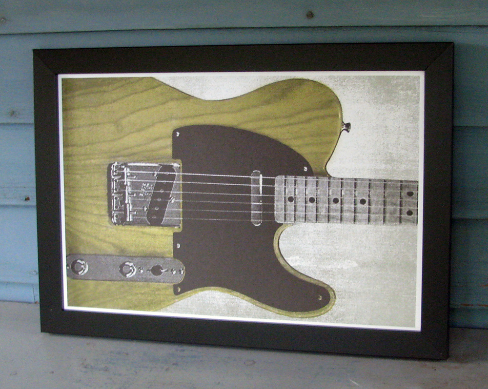 A tribute to the electric guitar that started it all. You can find this 12 x 18 print in the  Shop .