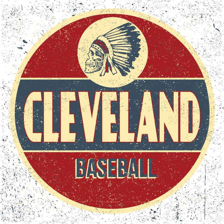 "A re-imagined look for the Cleveland baseball club reflecting the undeserved rap this great city gets. Influenced by vintage signage of Mid -Century Americana married with the national pastime. This print is sure to add a unique touch to any baseball fans memorabilia collection.    Size: 12""x12""     Paper: French Paper Co. Speckletone White, Acid Free and Archival quality. Made in the USA     Ink: Hand Crafted Silk Screen Print- printed with water based eco- friendly archival inks    Edition Size: Limited Edition print of 50. Signed and Numbered."