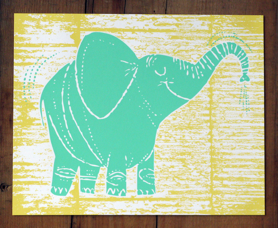 "-2 Color Hand Crafted Screen Print-    Size: 8""x10""    Paper: French Paper Co. Speckletone White, Acid Free and Archival quality. Made in the USA     Ink: Hand Crafted Silk Screen Print- printed with water based eco- friendly archival inks    Editon Size: Limited Edition print of 40. Signed and Numbered"