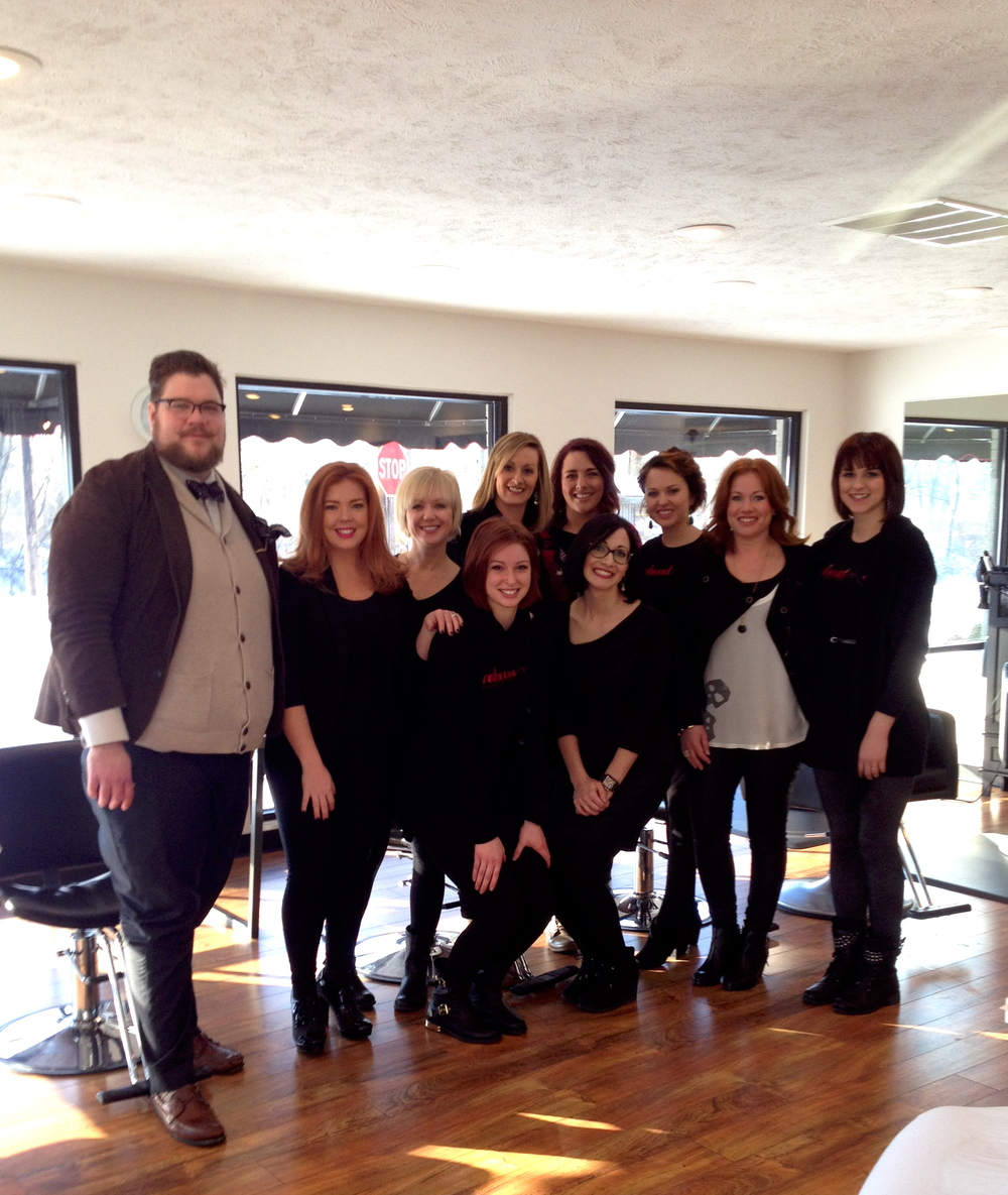 Stylists with BennieFactor educators, Lindsay and Paula!