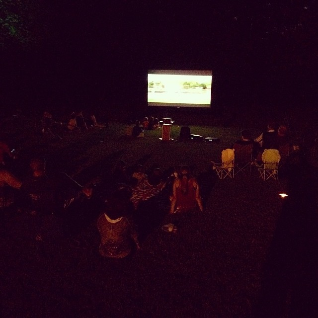 Hosting an outdoor movie night for a HOA in Coppell. #Sandlot