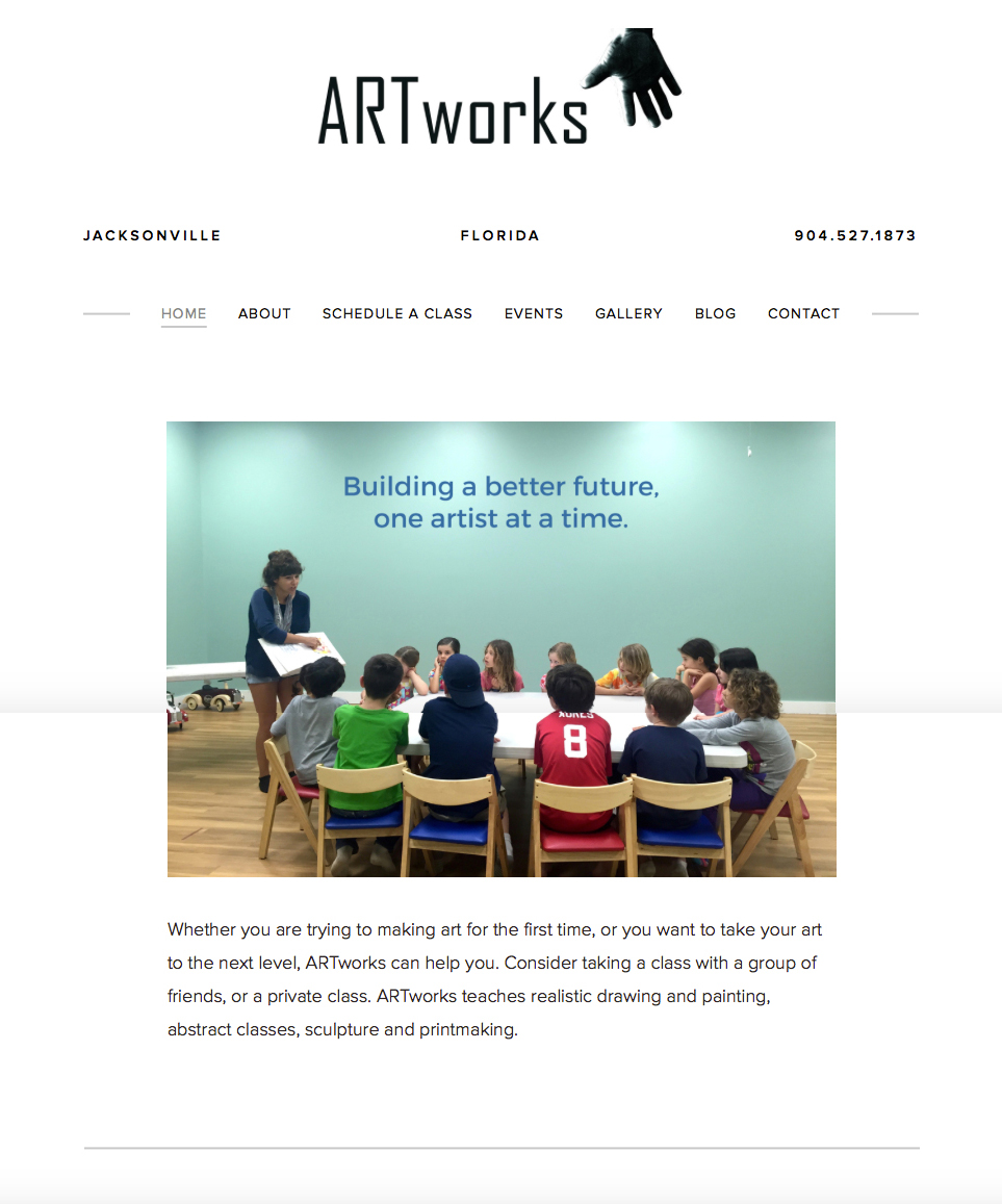 Artworks Jax -- Website Design