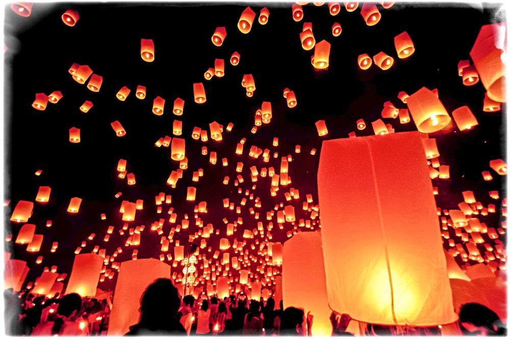 Yi Peng lantern festival, Chang Mai