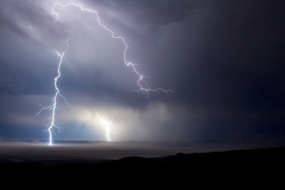 Lightning on Oregon's Alvord Desert