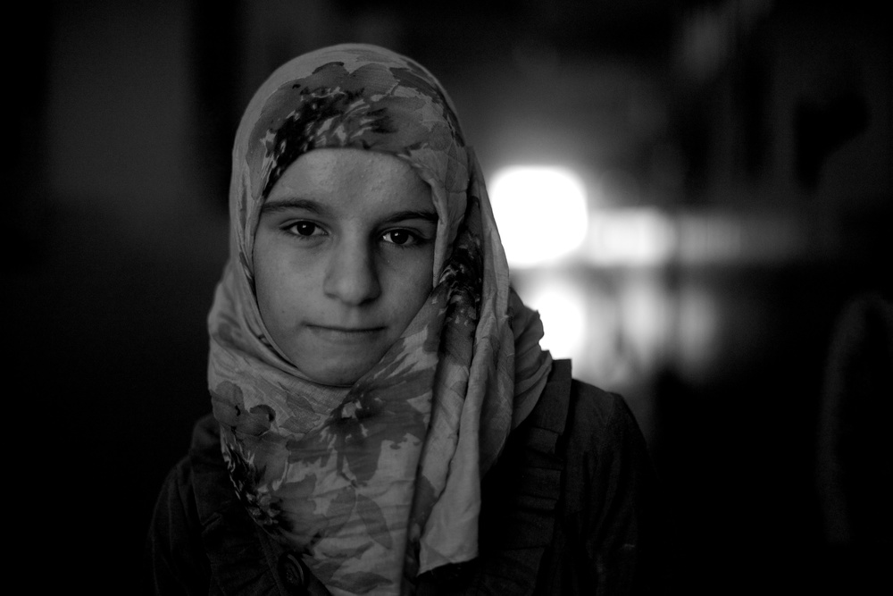 I am Roqaya and I am 14-years-old. I will be a surgeon to help my people in Syria. I'm here with my brother and sisters only. We are from Homs but there is nothing there for us now. Roqaya's older sister Safyed, did not want to have her picture made but she did want to share this: I'm Safyed and I'm 15-years-old. I am extremely sad and sometimes breathless.  I remember how I lost my father, my mum, my sister and my little baby brother. I lost my hometown, my sweet home, my school, my relatives. All of them. I lost and miss them greatly. Sometimes I can't imagine that we are here without them. Kids have lost their childhood in this war. People have become homeless. Foreignness is strange. Life has become so hard and miserable. There is no happiness, only nostalgia in our hearts for our family and our hometown and what was before now.
